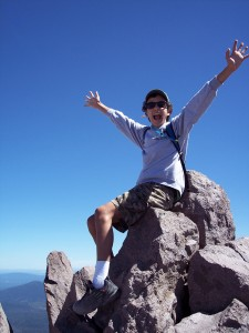 Nigel at Mt. Lassen summit